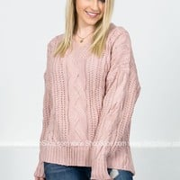 Classic Pink Knit Sweater