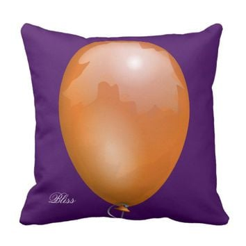 Orange toy balloon funny unique throw pillow