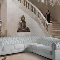Transitional White Bonded Sectional Sofa