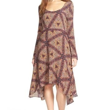 Women's Plenty by Tracy Reese Scarf Print Midi Dress,