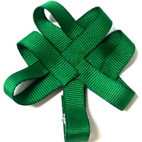 Girls St. Patrick's Day Shamrock Hair Clip