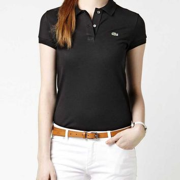 HOT LACOSTE WOMEN POLO T SHIRT 10 COLORS