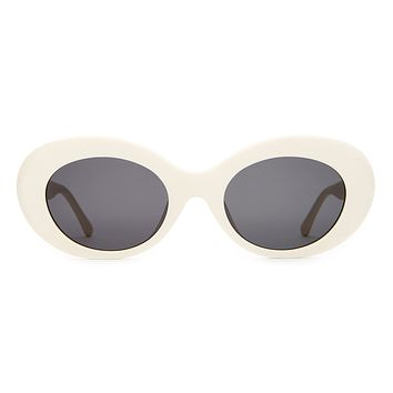 Crap Eyewear - Love Tempo Eggshell White  Sunglasses / Grey Lenses