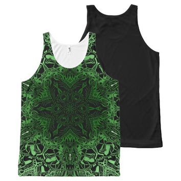 Green Kaleidoscope All-Over Print Tank Top