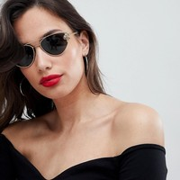 Versace Cat Eye Sunglasses with Medusa Detail at asos.com
