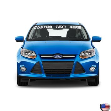 Custom Text Windshield Banner Vinyl Decal-Fits Ford Focus ST SVT 1998-2015