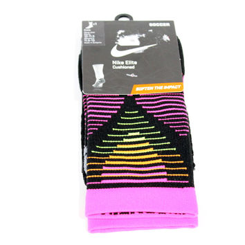 Nike Men's Strike Mercurial Black/Pink Soccer Crew Socks