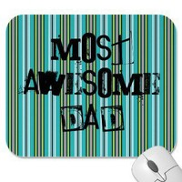 Most Awesome Dad Mousepad from Zazzle.com
