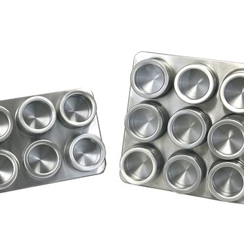 Stainless Steel Spice Set w/ Magnetic Rack