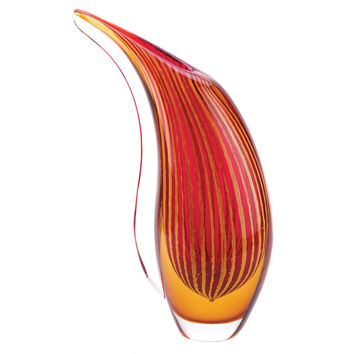 Red Vase Glass, Home Decorative Small Glass Vases For Flowers
