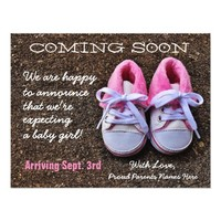 Coming Soon Baby Shoes | Pregnancy Announcement