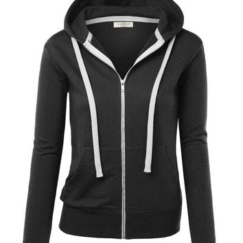 LL Womens Premium Active Soft Zip Up Fleece Hoodie Sweater Jacket