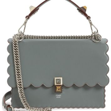 Fendi Kan I Scallop Leather Shoulder Bag | Nordstrom