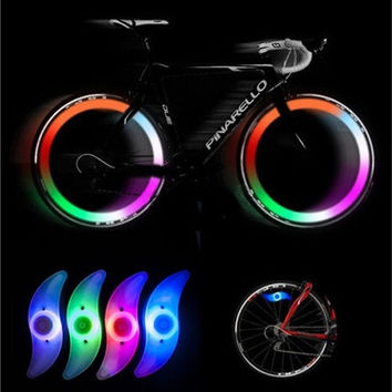 HOT 4 Color Bike Bicycle Cycling Spoke Wire Tire Tyre Wheel LED Bright Light Lamp [8270423041]