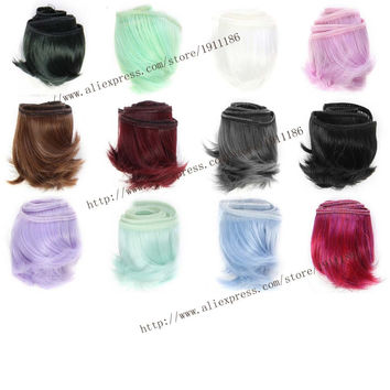 1pcs 5cm*100cm Short curly wigs/hair for 1/3 1/4 bjd/SD doll