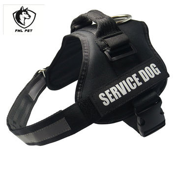 Hot Sale Adjustable Reflective Service Dog Harness For Small, Medium Dog