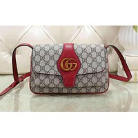 Gucci Fashion Hot Layer Envelope Cowhide Shopping Bag Single Shoulder Bag