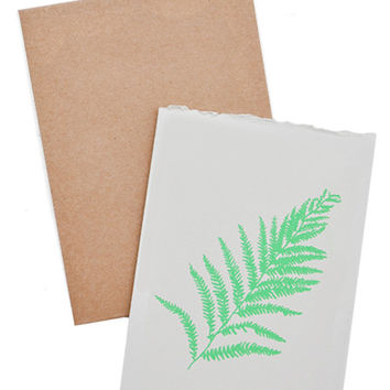 Fern Screen Printed Card