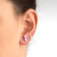 Cat and dog earrings, hypo allergenic earrings.