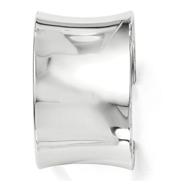 Sterling Silver 40mm Polished Concave Cuff Bracelet