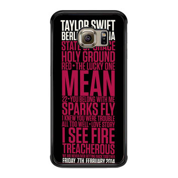Taylor Swift Red poster fe205b6d-9dae-4cee-ab51-1b1bf604affd FOR SAMSUNG GALAXY S6 EDGE CASE**AP*