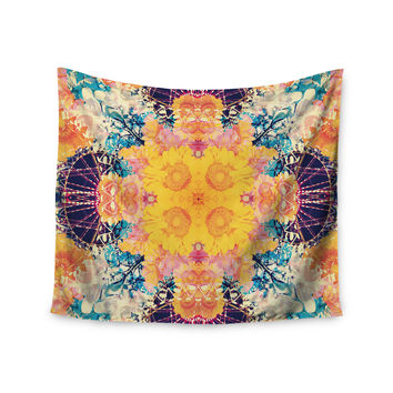 "Danii Pollehn ""Unbenannt"" Purple Orange Wall Tapestry"