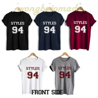 Harry Styles Shirt Styles 94 Date of Birth Front Side Unisex Tshirt