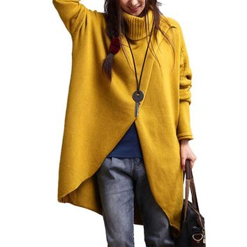 Wool Sweaters Women Winter Dress Turtleneck Sweater Plus Size Knitted Pullover Knit Turtleneck Casaco Feminino #120