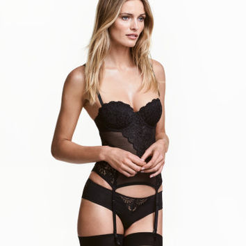 H&M Mesh and Lace Bustier $29.99