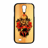 Star Wars Roses Tatto In Wood Samsung Galaxy S4 Case
