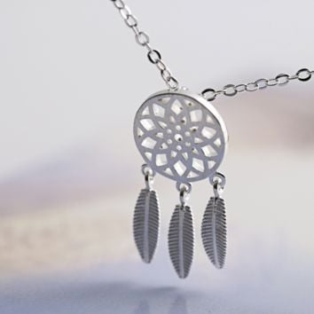 Original Unique Creative S925 Silver Dreamcatcher Necklace
