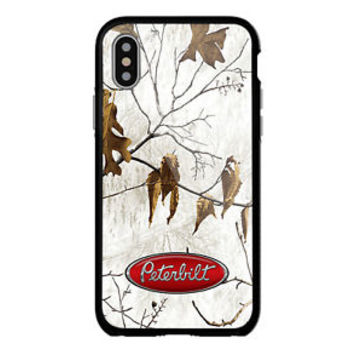 Peterbilt Truck White Camo For iPhone X 8 8+ 7 7+ 6 6+6s 6s+ 5 5s Samsung Case