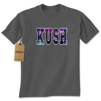 Kush Galaxy Print Mens T-shirt