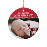 First Christmas Photo Ornament from Zazzle.com