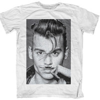 Johnny Depp Finger Mustache T Shirt Tash Moustache Tee S M L XL Pirate Hip Men Funny High Eleven Joke Hype Nothing Retro Paris One Influence