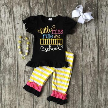 """""""Little Miss Rule The School 4PC Outfit"""