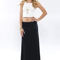 Take It Easy Maxi Skirt - Black