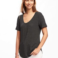 Luxe Curved-Hem Tee for Women | Old Navy