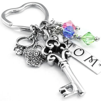 Personalized Mother's Key Chain