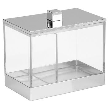 "Rectangular Bathroom Vanity Canister with Dividers 4.6""x3""x5""- InterDesign®"