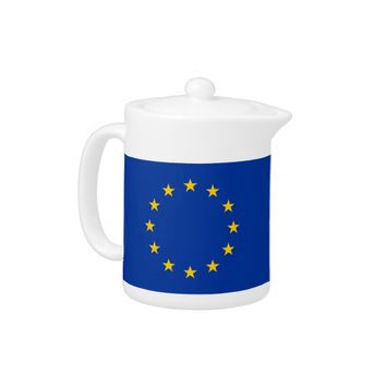European Union Flag Teapot