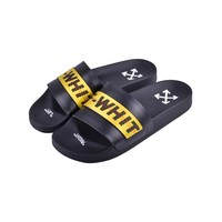 OFF WHITE C/O VIRGIL ABLOH 19SS Arrow letters yellow slippers