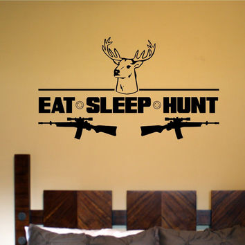 Eat Sleep Hunt Vinyl Wall Decal Sticker Wall Boy Girl Teen Child Decals Stickers