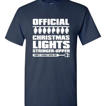 Funny Christmas Shirt Christmas Lights Decorating Great Gift Idea Mens Ladies Womens Love Christmas Merry Christmas Celebrate B-462