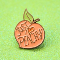 Just Peachy Enamel Pin