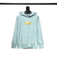 "Supreme Embossed Logo Hooded ""Ice Blue"""