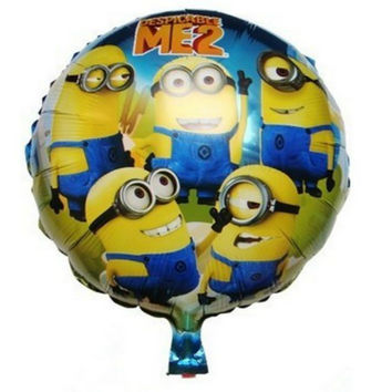 18inch despicable me party minions foil balloons baby boy shower kids birthday decoration festa de aniversario