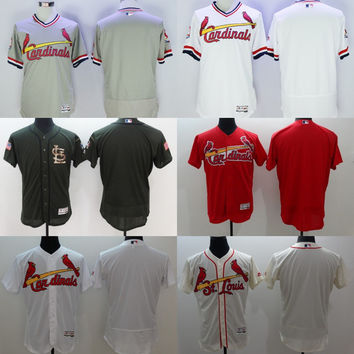 2016 NEW Flexbase Authentic Collection Team Men St. Louis Cardinals blank baseball jerseys Stitched size S-3XL