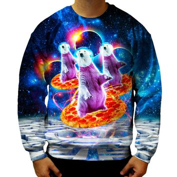 Polar Bear Pizza Sweatshirt