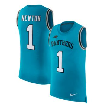 KUYOU Carolina Panthers Jersey - Cam Newton Blue Men's Vapor Untouchable Tank Top